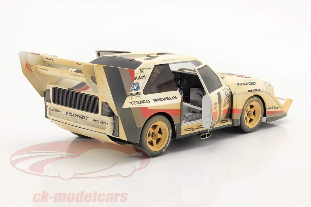 Audi Sport quattro S1 E2 #1 Ganador Pikes Peak 1987 Röhrl Dirty Version 1:18 CMR