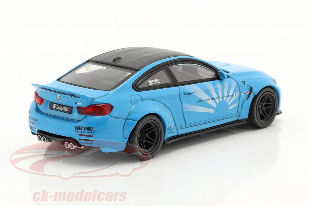 BMW M4 LB Works Byggeår 2020 spædbarn blå 1:64 True Scale