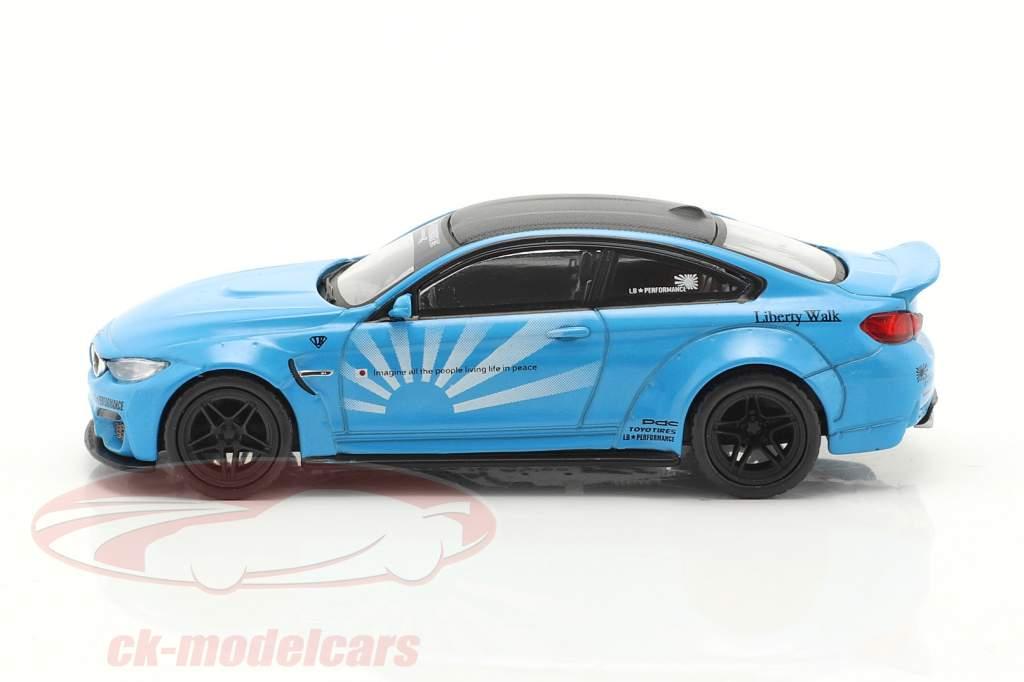 BMW M4 LB Works year 2020 infant blue 1:64 True Scale