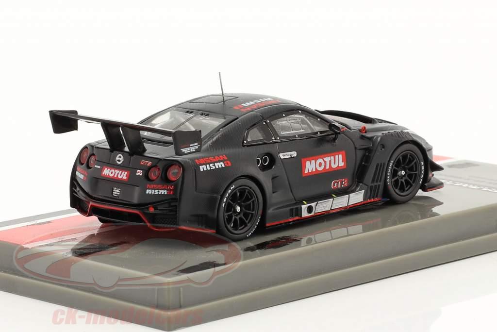 Nissan GT-R Nismo GT3 Testando versão Preto 1:64 Tarmac Works
