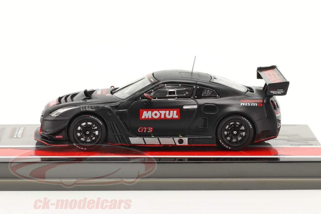 Nissan GT-R Nismo GT3 Pruebas versión negro 1:64 Tarmac Works