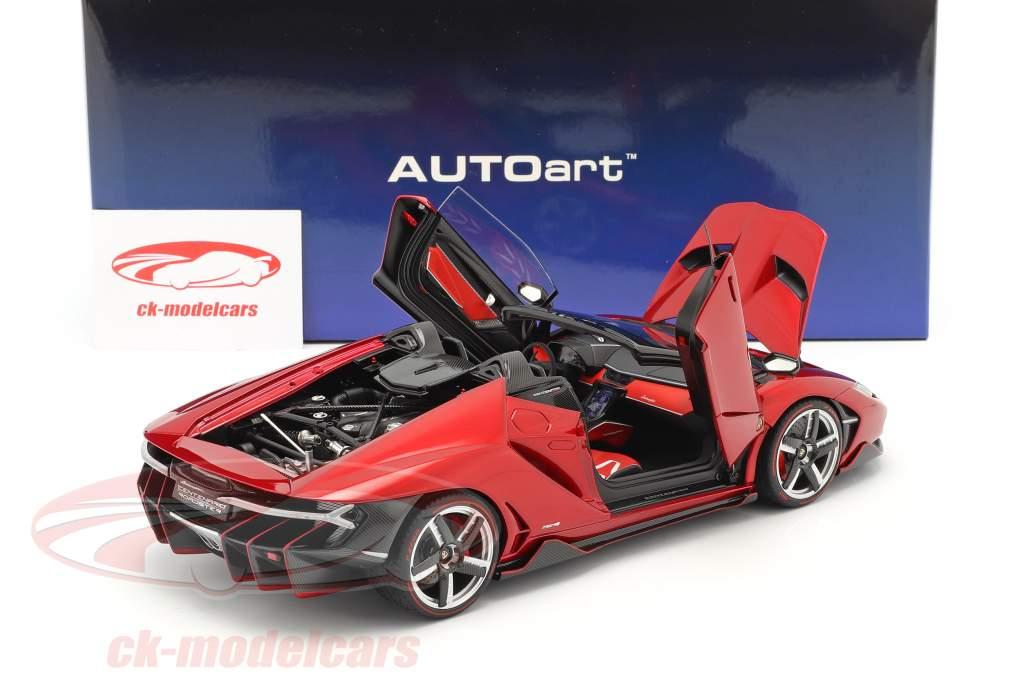 Lamborghini Centenario Roadster Anno di costruzione 2016 rosso metallico 1:18 AUTOart