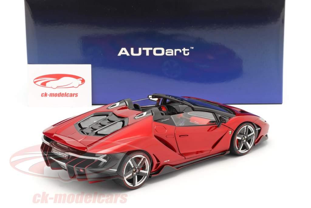 Lamborghini Centenario Roadster Année de construction 2016 rouge métallique 1:18 AUTOart