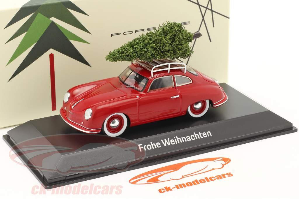 Porsche 356 red with Christmas tree 1:43 Spark