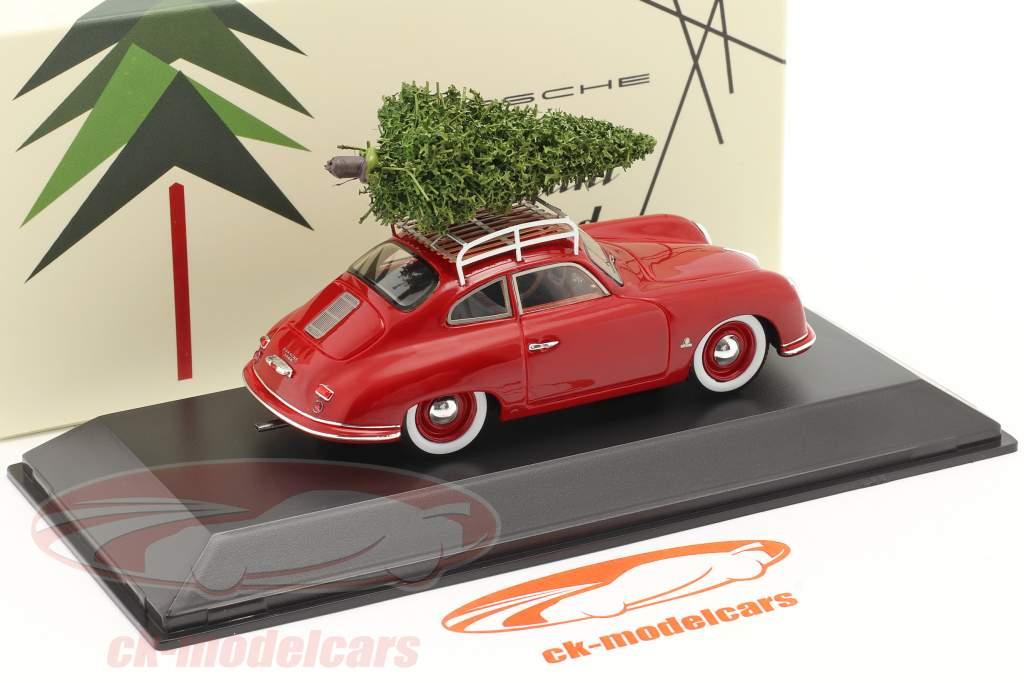 Porsche 356 rojo con árbol de Navidad 1:43 Spark