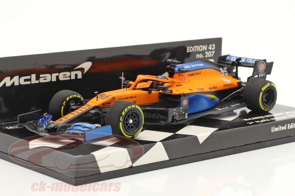 Carlos Sainz McLaren MCL35 #55 2° Italia GP F1 2020 1:43 Minichamps