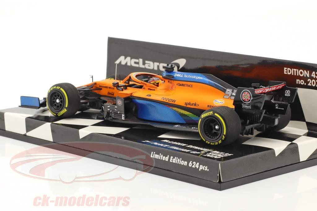 Carlos Sainz McLaren MCL35 #55 2do Italia GP F1 2020 1:43 Minichamps