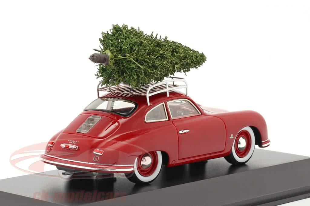 Porsche 356 rot mit Tannenbaum 1:43 Spark