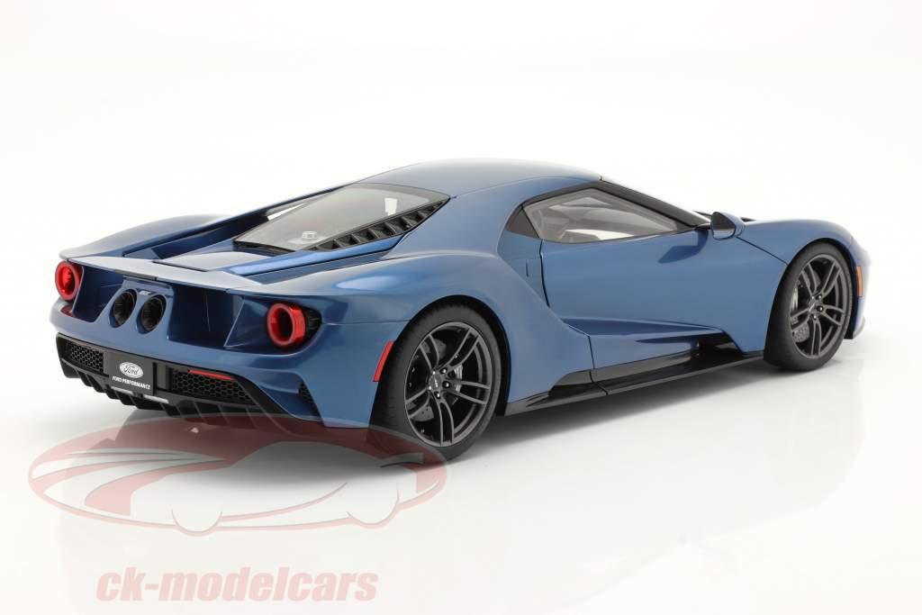 Ford GT bouwjaar 2017 vloeistof blauw 1:12 AUTOart