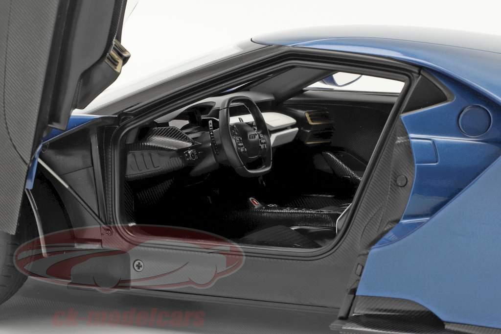 Ford GT year 2017 liquid blue 1:12 AUTOart