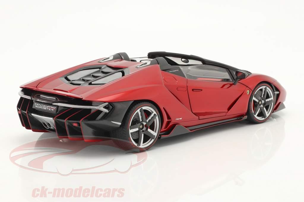 Lamborghini Centenario Roadster Byggeår 2016 Rød metallisk 1:18 AUTOart