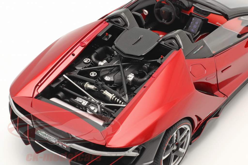 Lamborghini Centenario Roadster bouwjaar 2016 rood metalen 1:18 AUTOart