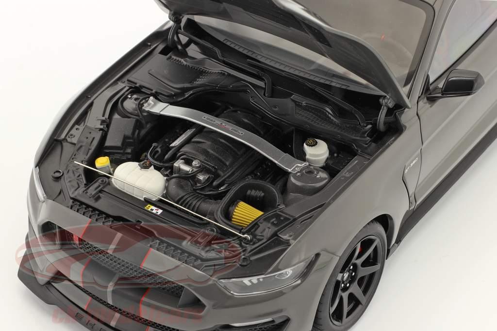 Ford Shelby GT-350R Anno di costruzione 2017 grigio scuro metallico 1:18 AUTOart