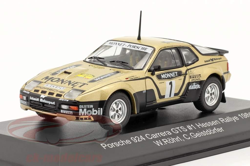 Porsche 924 Carrera GTS #1 Winnaar Rallye Hessen 1981 Röhrl, Geistdörfer 1:43 CMR