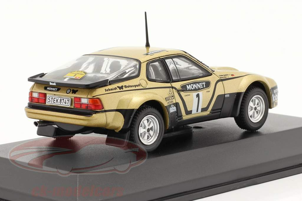 Porsche 924 Carrera GTS #1 Vincitore Rallye Hessen 1981 Röhrl, Geistdörfer 1:43 CMR