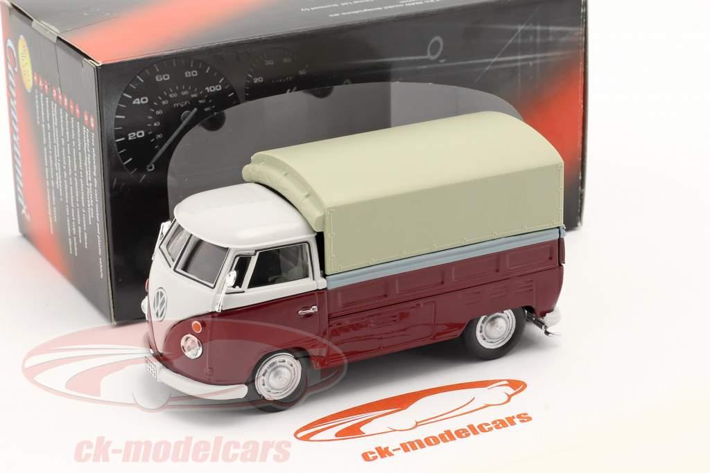 Volkswagen VW T1 Pick Up Avec Des plans rouge / beige 1:43 Cararama