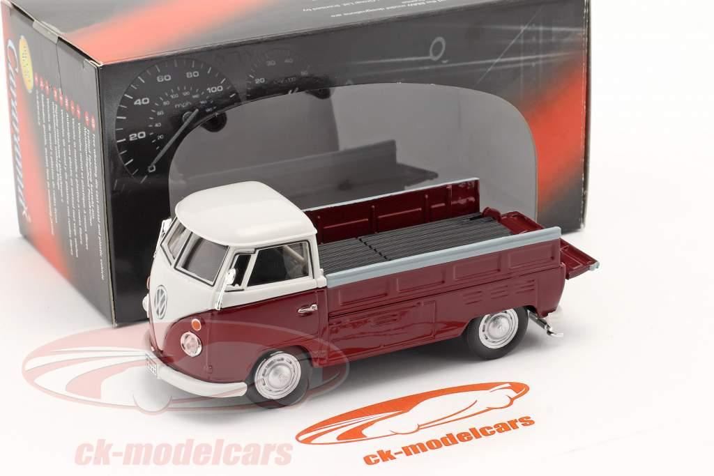 Volkswagen VW T1 Pick Up Met Plannen rood / beige 1:43 Cararama