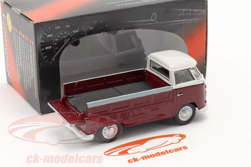 Volkswagen VW T1 Pick Up mit Plane rot / beige 1:43 Cararama