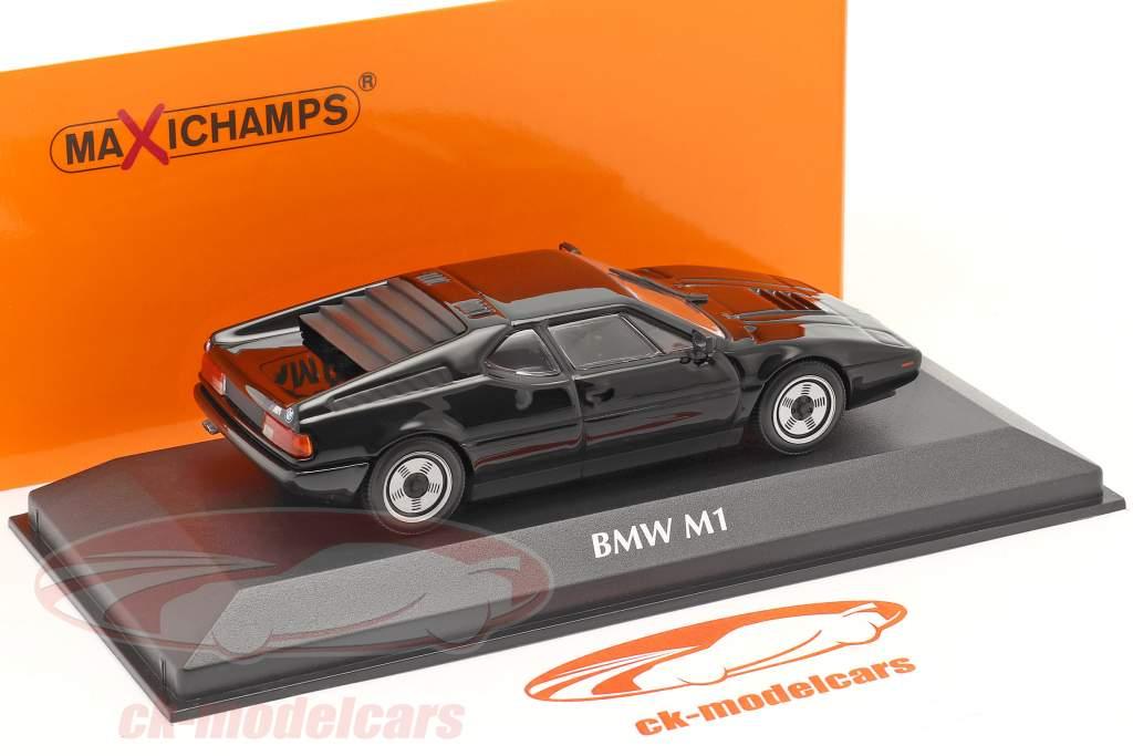 BMW M1 anno 1979 nero 1:43 Minichamps
