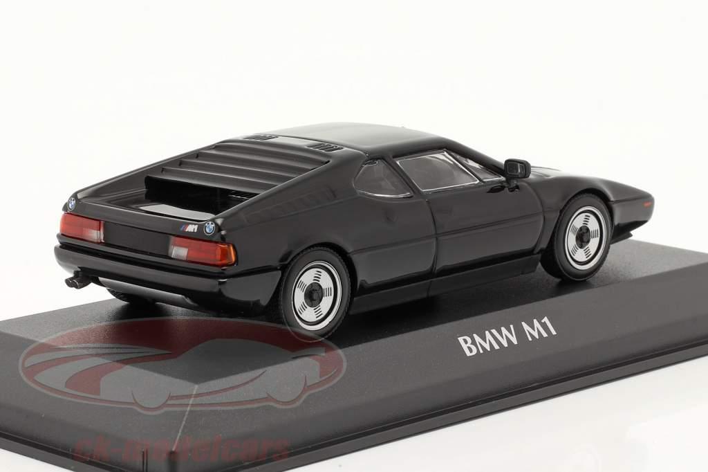 BMW M1 année 1979 noir 1:43 Minichamps