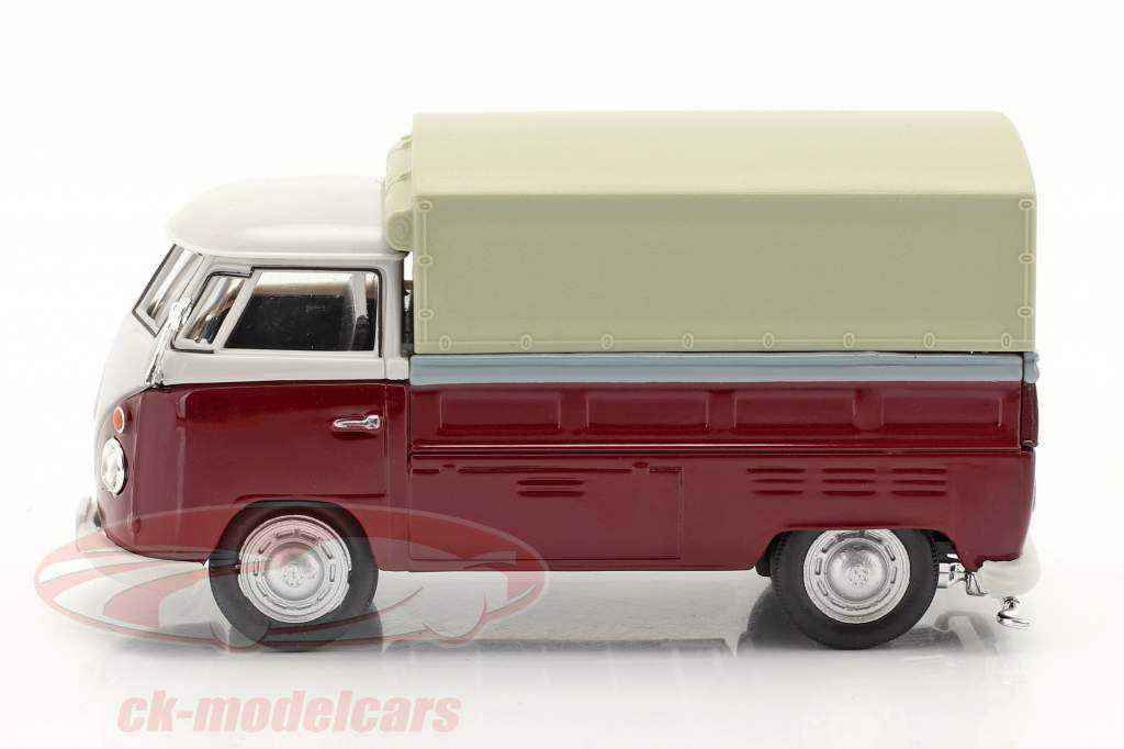 Volkswagen VW T1 Pick Up Med Planer rød / beige 1:43 Cararama
