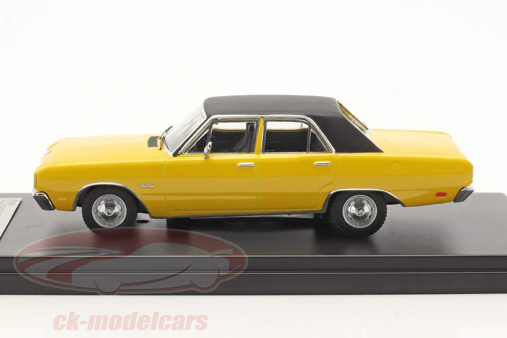 Dodge Dart Gran Sedan År 1976 gul 1:43 Premium X