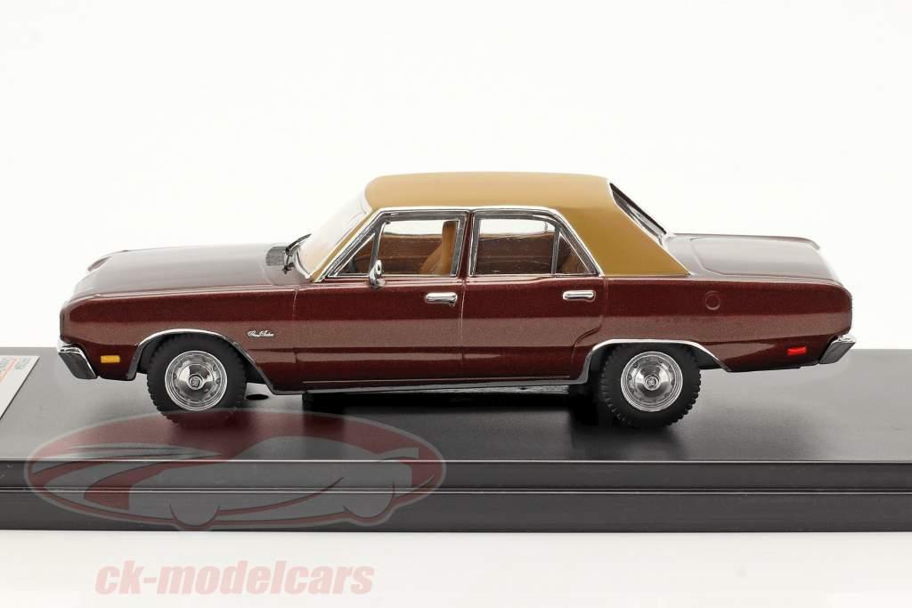 Dodge Dart Gran Sedan Ano 1976 marrom 1:43 Premium X