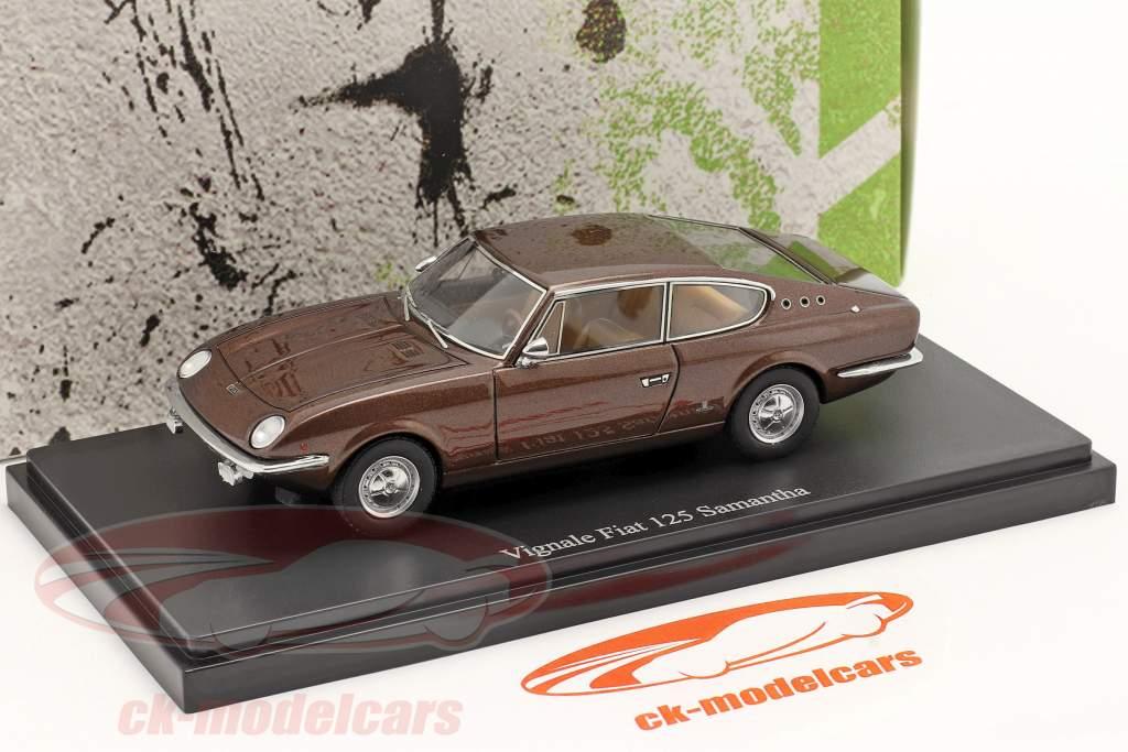 Vignale Fiat 125 Samantha año 1967 marrón 1:43 AutoCult