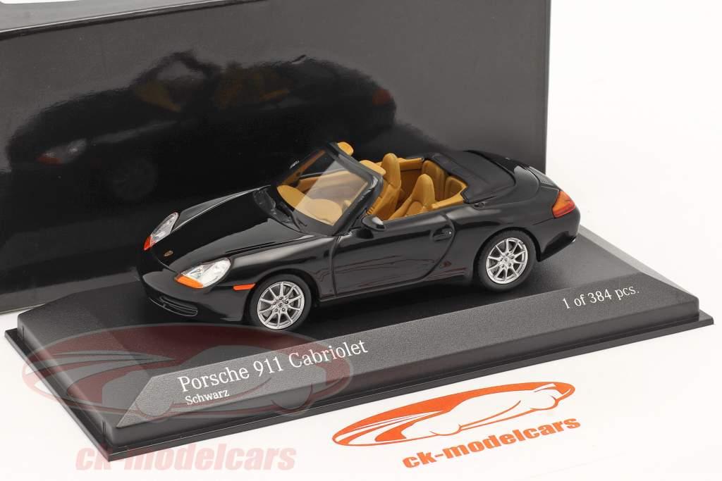 Porsche 911 cabriolet année 1998 noir métallisé 1:43 Minichamps