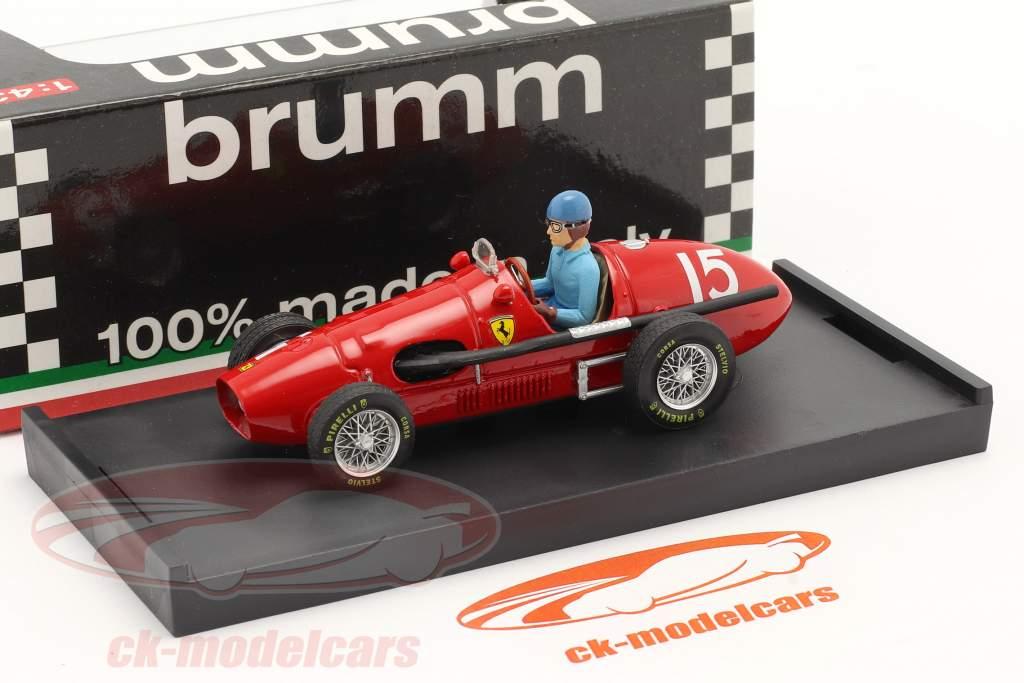 A. Ascari Ferrari 500F2 #15 World Champion GP Great Britain F1 1952 1:43 Brumm