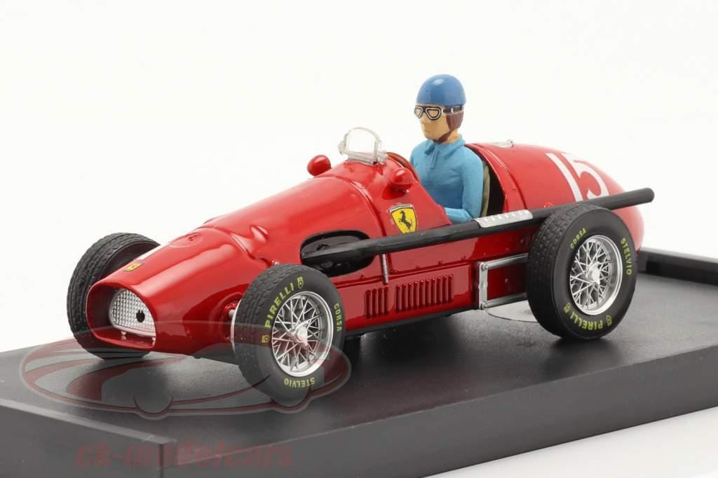 A. Ascari Ferrari 500F2 #15 Wereldkampioen GP Groot-Brittannië F1 1952 1:43 Brumm