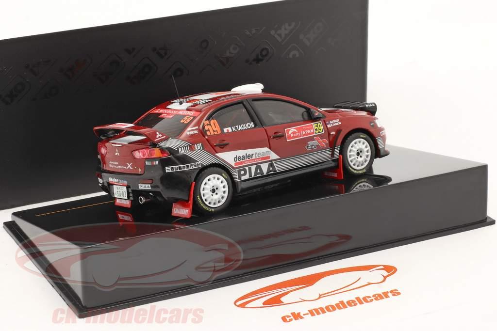 Mitsubishi Lancer Evo X #59 Rally van Japan 2008 1:43 Ixo