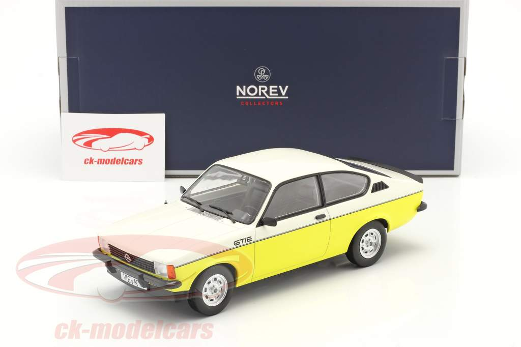 Opel Kadett C GT/E Anno di costruzione 1977 giallo / bianco 1:18 Norev