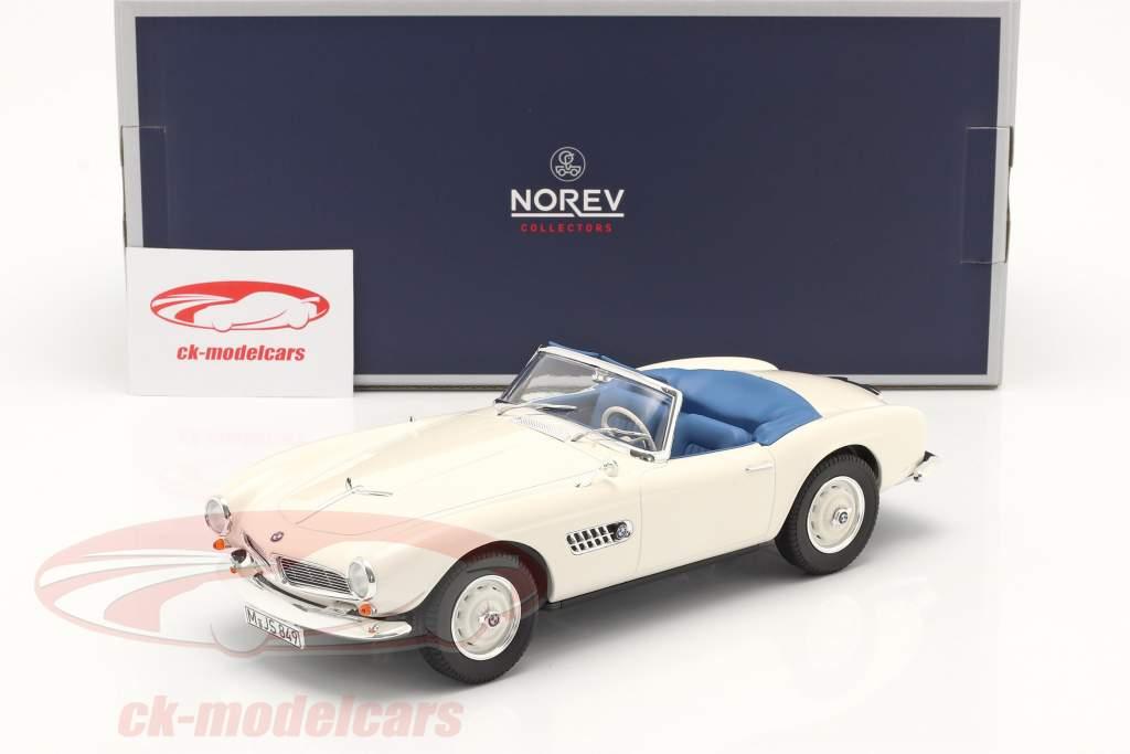 BMW 507 Convertible Año de construcción 1956-1959 blanco 1:18 Norev