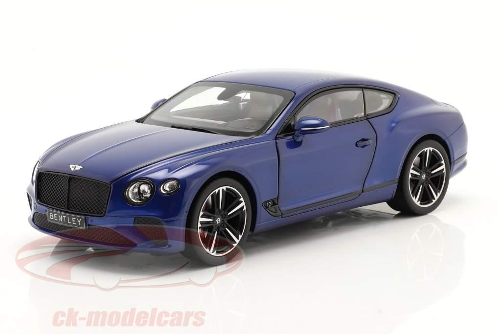 Bentley Continental GT Baujahr 2018 sequin blau 1:18 Norev