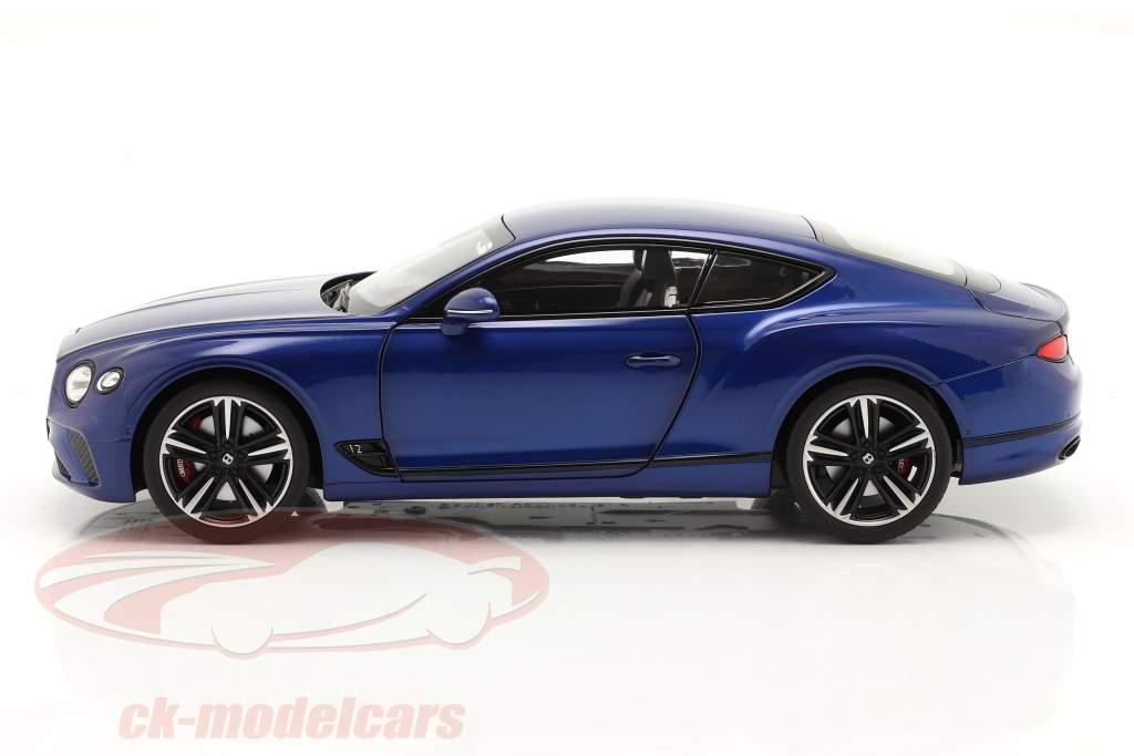 Bentley Continental GT Ano de construção 2018 sequin azul 1:18 Norev
