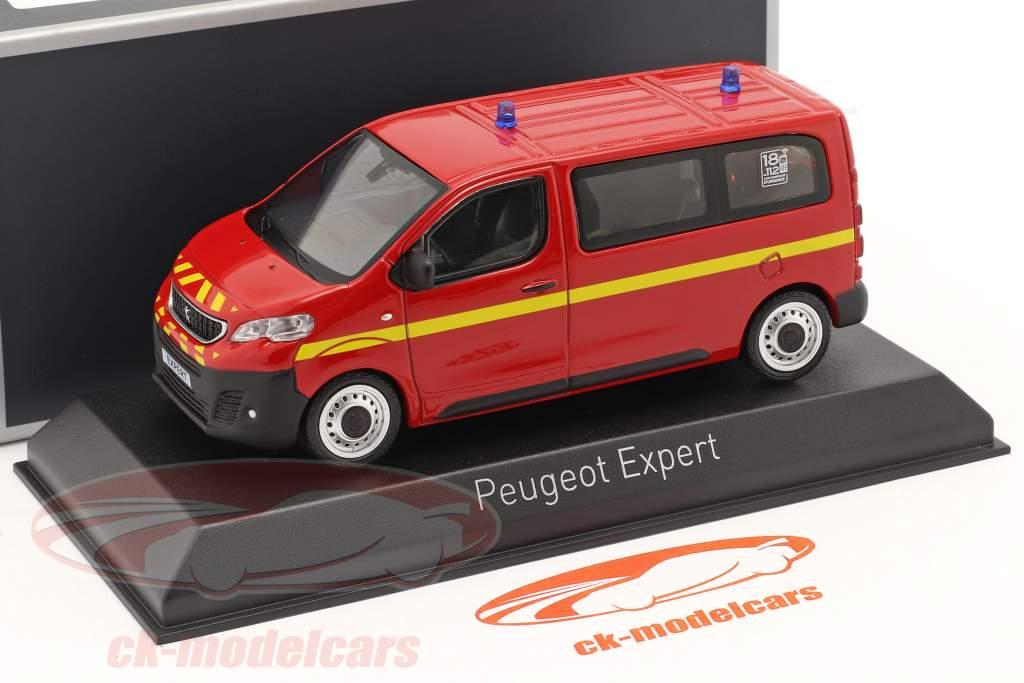 Peugeot Expert pompiers Année de construction 2016 rouge 1:43 Norev