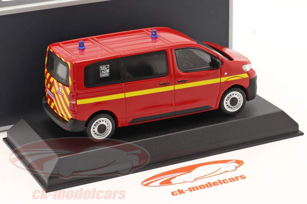 Peugeot Expert fire Department year 2016 red 1:43 Norev