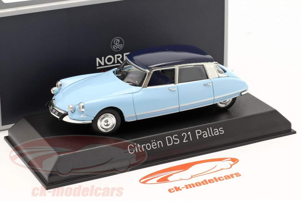 Citroen DS21 Pallas Anno di costruzione 1967 Monte Carlo blu / Orient blu 1:43 Norev