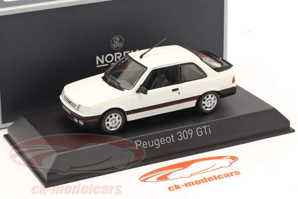 Peugeot 309 GTI Ano de construção 1987 meije Branco 1:43 Norev