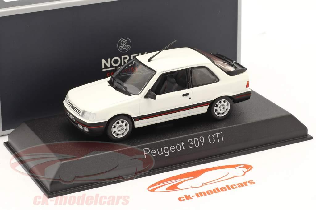 Peugeot 309 GTI year 1987 meije white 1:43 Norev