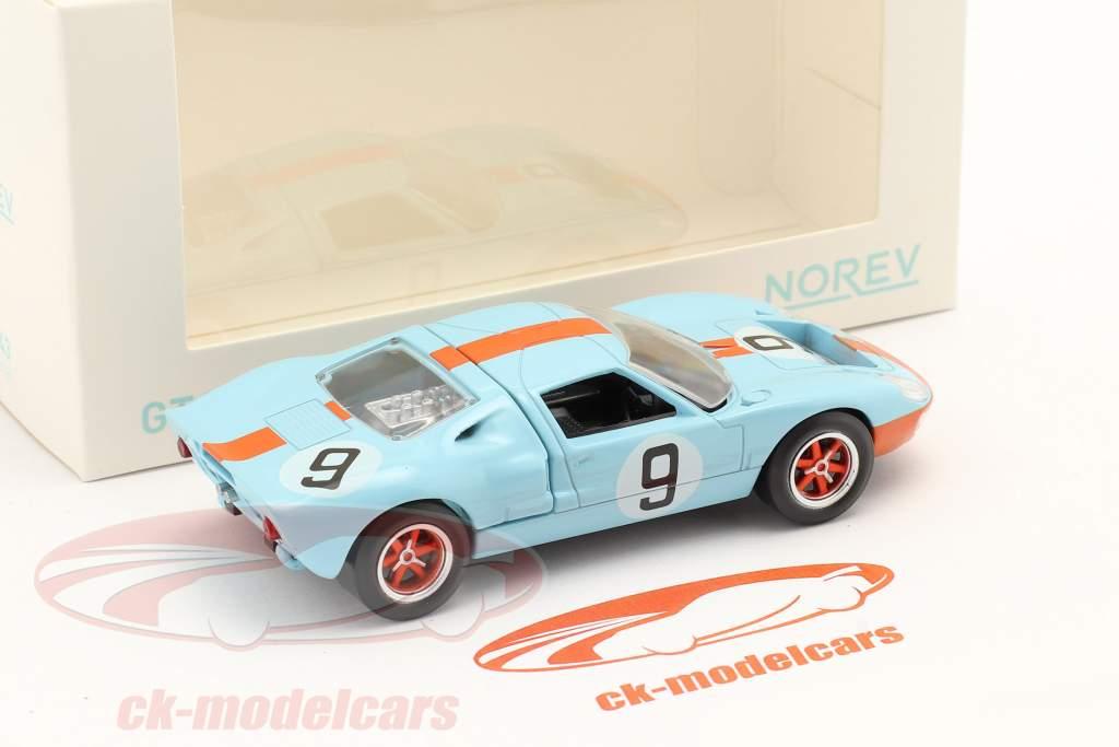Ford GT40 #9 ganador 24h LeMans 1968 Jet Car 1:43 Norev