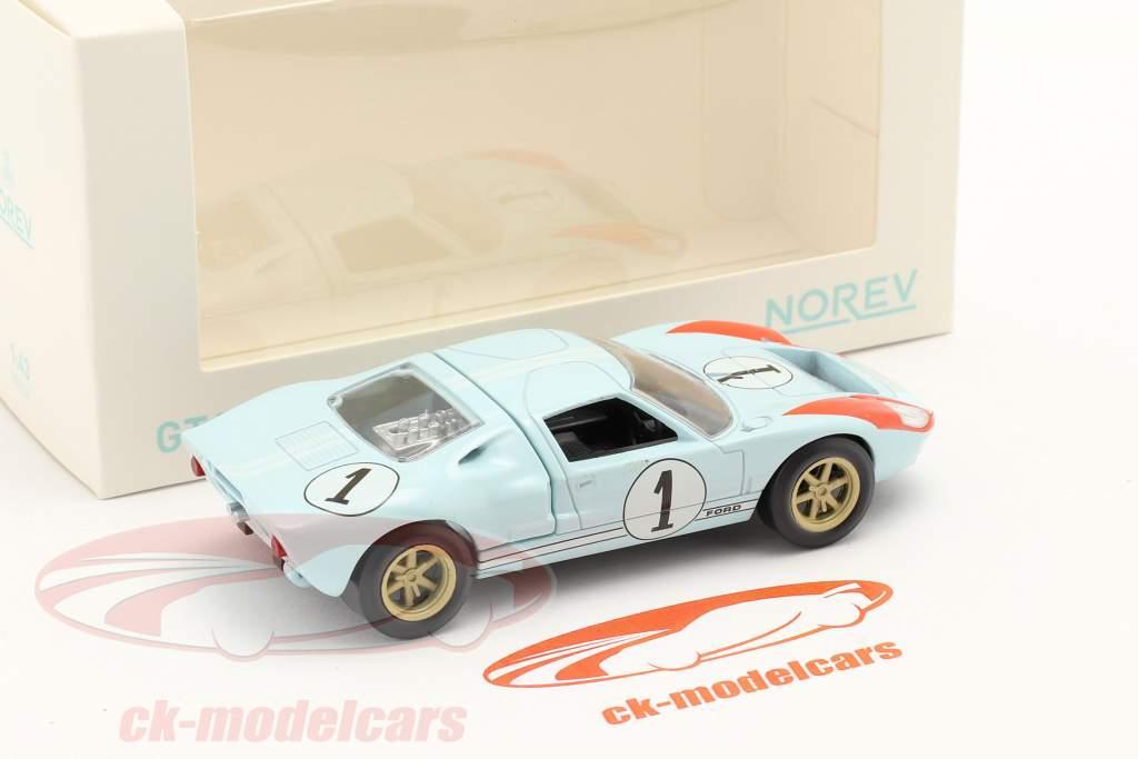 Ford GT40 #1 2nd 24h LeMans 1966 Jet Car 1:43 Norev
