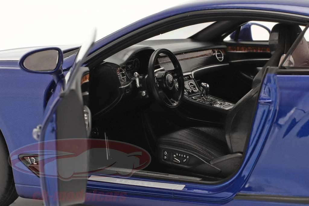 Bentley Continental GT Année de construction 2018 sequin bleu 1:18 Norev