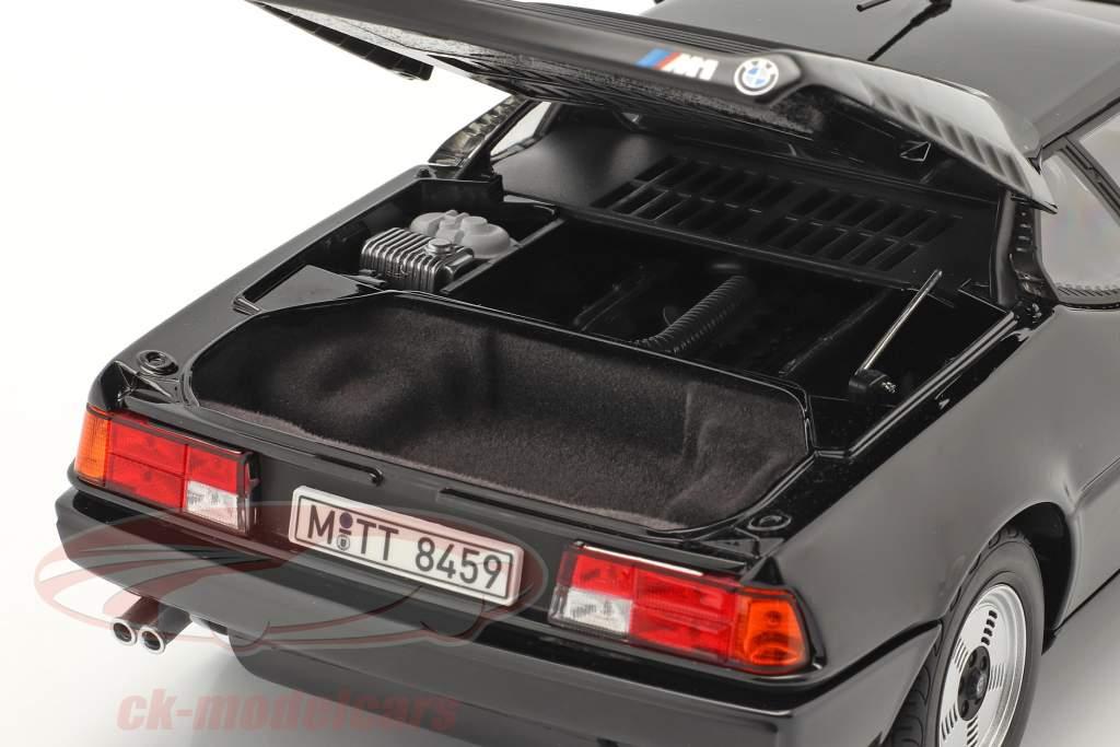 BMW M1 Ano de construção 1980 Preto 1:18 Norev