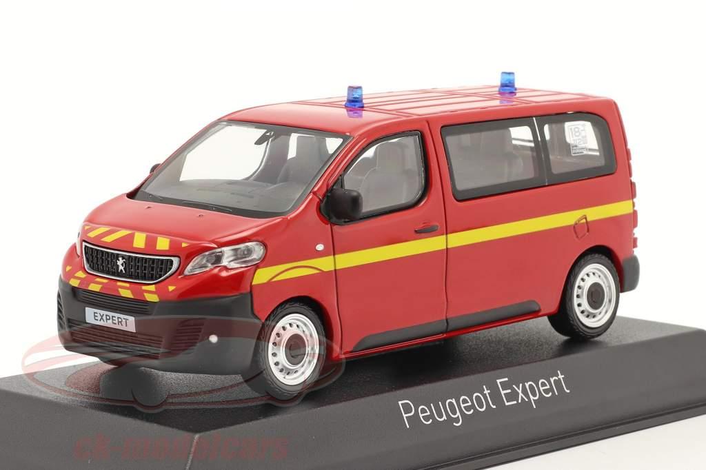 Peugeot Expert Feuerwehr Baujahr 2016 rot 1:43 Norev