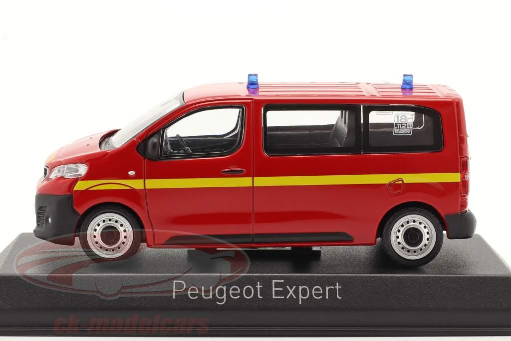 Peugeot Expert cuerpo de Bomberos Año de construcción 2016 rojo 1:43 Norev