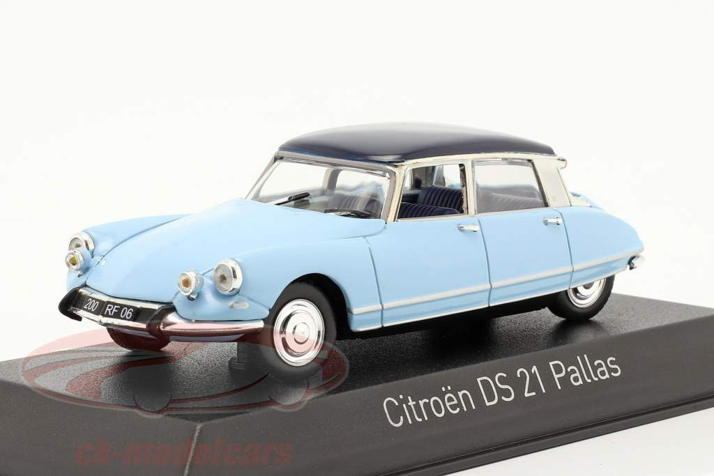 Citroen DS21 Pallas Ano de construção 1967 Monte Carlo azul / Orient azul 1:43 Norev