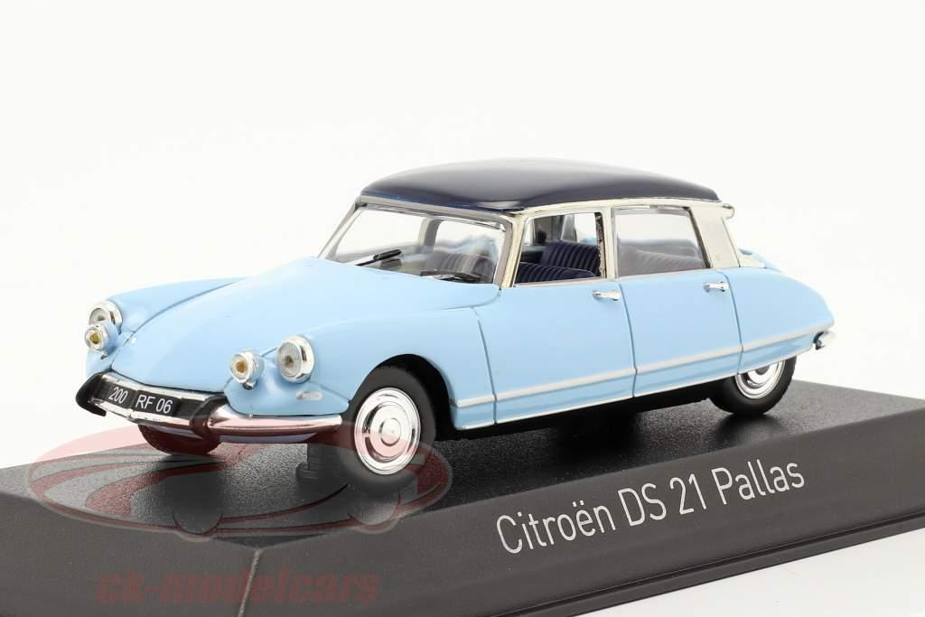 Citroen DS21 Pallas Baujahr 1967 Monte Carlo blau / Orient blau 1:43 Norev