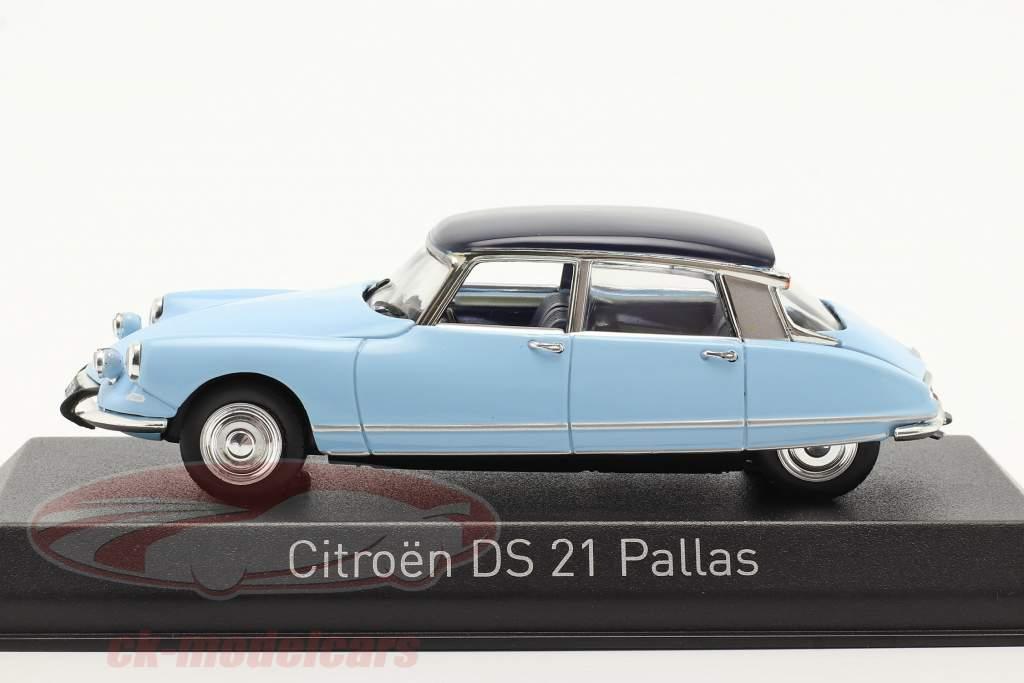 Citroen DS21 Pallas Año de construcción 1967 Monte Carlo azul / Orient azul 1:43 Norev